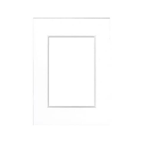 ADF Mat 5x7/3.5x5 Gallery DblThick WhtCore White