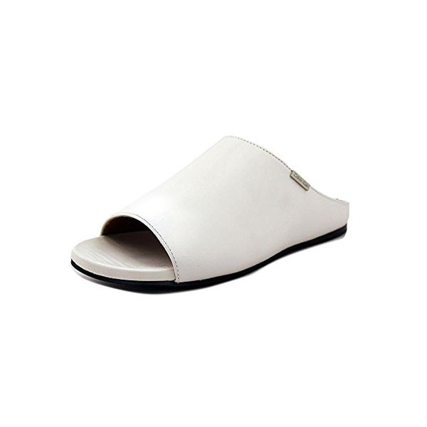 Calvin Klein Womens Palla Slide Sandals Leather Open Toe