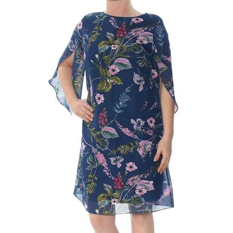 MSK Blue Kimono Sleeve Knee Length Shift Dress Size 6