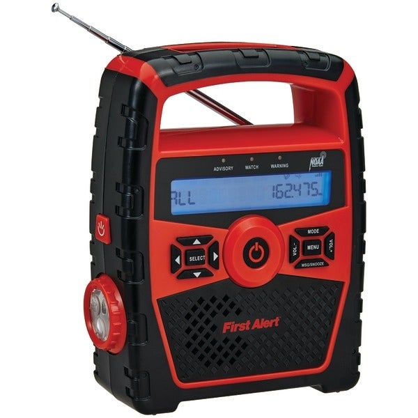 First Alert Sfa1180 Portable Am/Fm Weather Radio With Alarm Clock