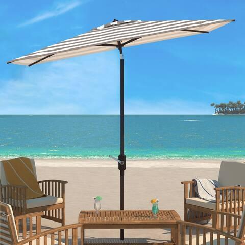 Safavieh Outdoor Living Iris Fashion Line 6.5 x 10 Ft Rectangle Umbrella