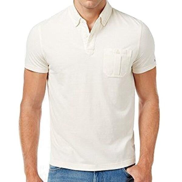 0e7b4aca Tommy Hilfiger NEW White Ivory Mens Size 2XL Custom Striped Polo Shirt