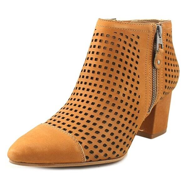 Lucky Brand Jakelyn Women Pointed Toe Leather Tan Bootie