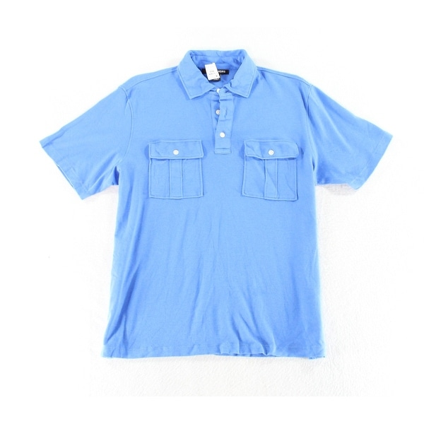 45456e45 Shop Michael Kors NEW Bright Blue Mens Size Medium M Polo Rugby Shirt -  Free Shipping On Orders Over $45 - Overstock - 19526605