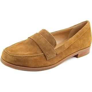 Franco Sarto Valera Women Round Toe Suede Brown Loafer
