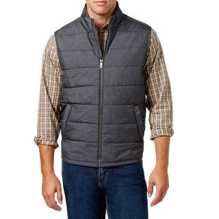 Tommy Bahama NEW Heather Gray Mens Size Small S Cavil Quilted Down Vest