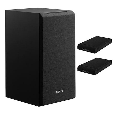 Sony SSCS5 3-Way 3-Driver Bookshelf Speaker System (Black) with Pads
