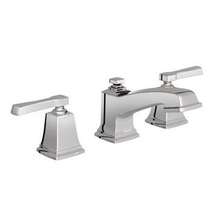 Moen T6220 Boardwalk Widespread Bathroom Faucet with Metal Pop-Up Drain Assembly