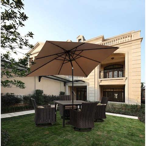 9 ft. Aluminum Market Solar Patio Umbrella