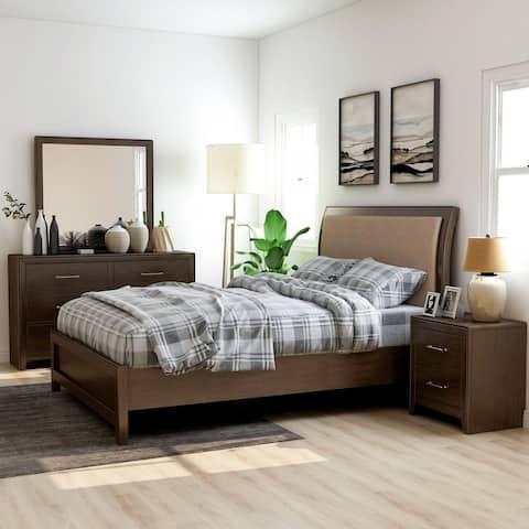 Furniture of America Yra Transitional Walnut 4-piece Bedroom Set