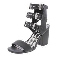 Dolce Vita Womens Heels Leather Buckle - 6.5 medium (b,m)