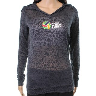 Asics NEW Gray Smoke Women's Size Small S Burnout Volleyball Hoodie