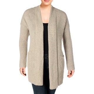 Rafaella Womens Plus Cardigan Sweater Long Sleeves Shawl Collar - 2x
