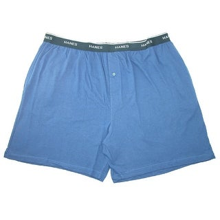 Hanes Men's Cotton Jersey Knit Sleep Shorts with Exposed Waistband