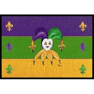 Carolines Treasures 8386JMAT 36 x 24 in. Mardi Gras Indoor Or Outdoor Doormat