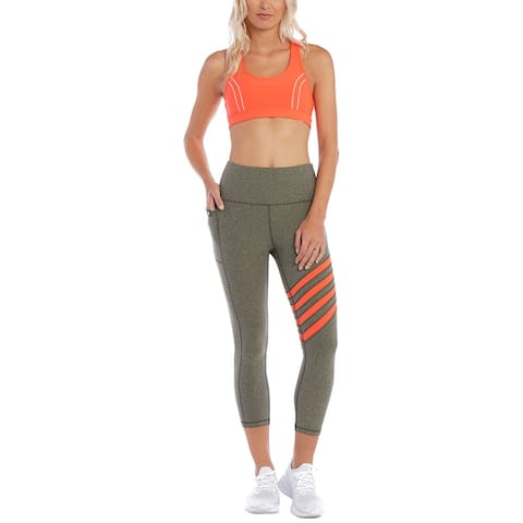 X By Gottex Uneven Color Stripe Capri Tummy