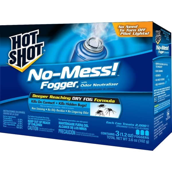 Hot Shot HG-20177 No-Mess Insect Fogger, 3.5 Oz