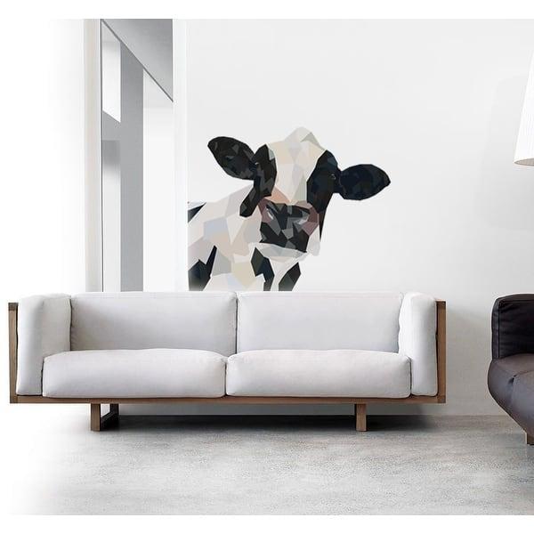 Cow Polygonal Wall Decal Farm House Polygon Modern Wall Art Sticker Overstock 31820835