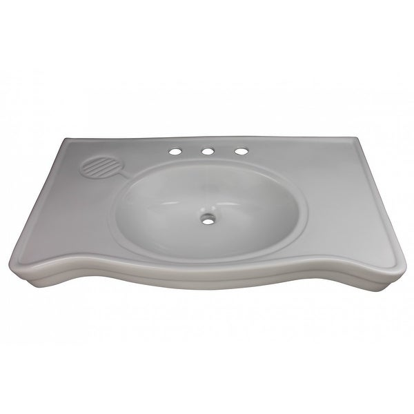 Bathroom Console Sinks Deluxe Belle Epoque White China |Renovator's Supply