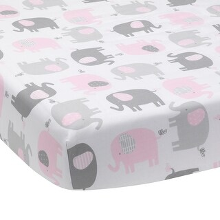Shop Sweet Jojo Designs Pink Taupe Elephant Crib Sheet