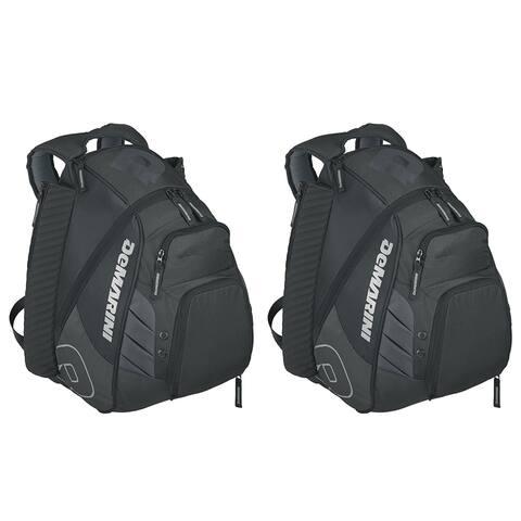 DeMarini Voodoo Rebirth Baseball Backpack (Black, 2-Pack)
