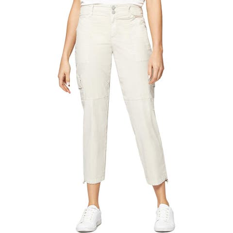Sanctuary Womens Cargo Pants Cropped Mid-Rise