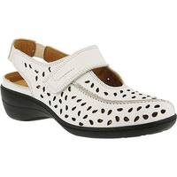 Spring Step Women's Fogo Perforated Slingback White Leather