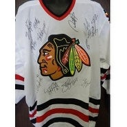 Signed Blackhawks Chicago 200102 Replica Chicago Blackhawks Jersey Size XL by the 200102 Team signe