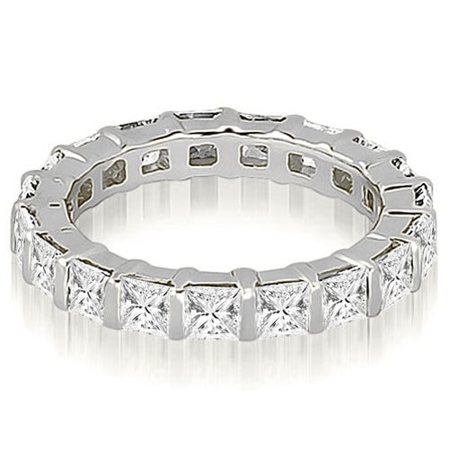 2.00 cttw. 14K White Gold Princess Diamond Eternity Ring