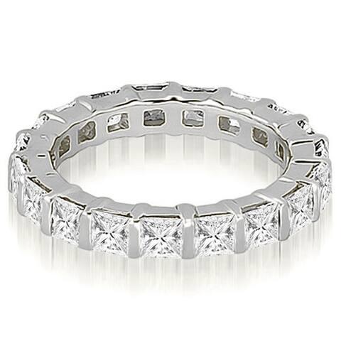 14K White Gold 2.00 CT Princess Diamond Eternity Ring