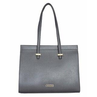 Tahari Womens T-Riffic Satchel Handbag Faux Leather Pebbled - LARGE