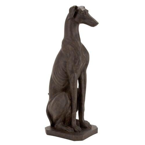 Aspire Home Accents 44670 Greyhound Dog Statue - Brown