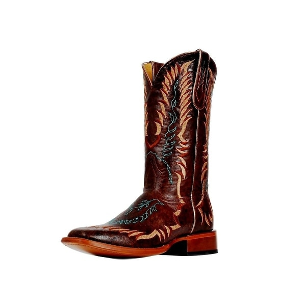 Cinch Western Boots Womens Champion Square Toe Goat Brown