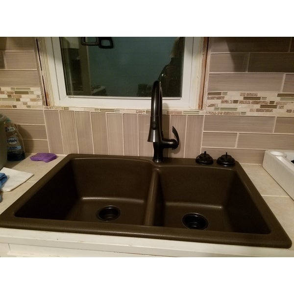 Shop Y Decor Robbie Single Handle Oil Rubbed Bronze Kitchen Faucet