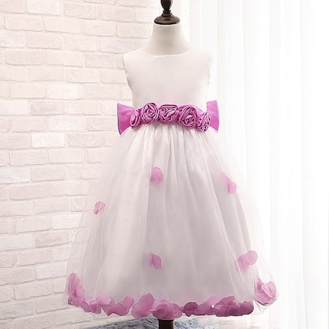 Girls Dress Three-Dimensional Flower Children Princess Dress