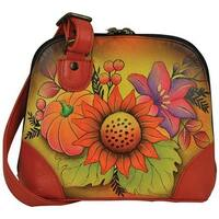 ANNA by Anuschka Women's Hand Painted Small Multi Compartment Organizer8109 Fall Bouquet - us women's one size (size none)
