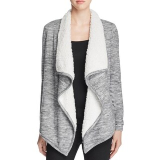 Vero Moda Womens Ilsa Cardigan Sweater Faux Fur Draped