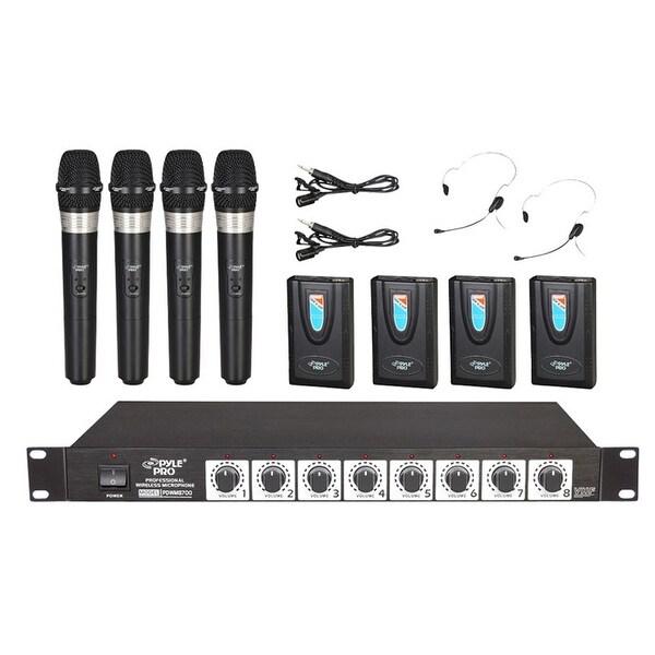 Pyle Pro 8 Mic Handheld VHF Wireless Mic System