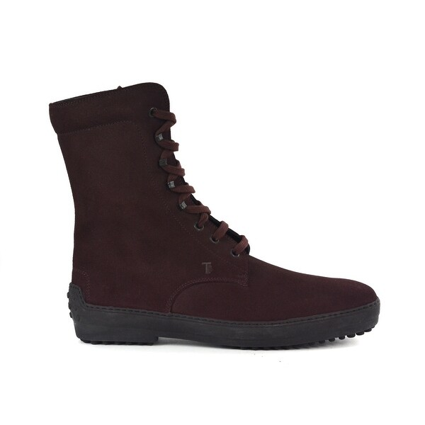 f67e71dd9fe Shop Tod s Mens Burgundy Red Suede High Top Lace Up Ankle Boots Size ...