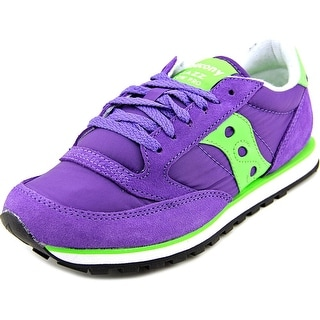 Saucony Jazz Low Pro Women Round Toe Suede Purple Sneakers