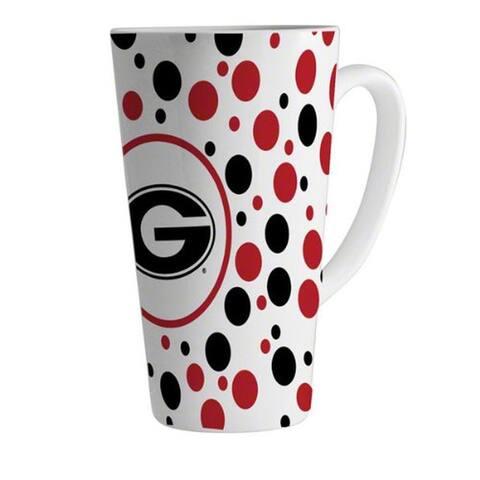 Georgia Bulldogs 16 oz Polka Dot Latte Mug
