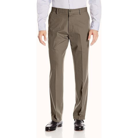 Dockers Mens Pants Pebble Brown Size 52x28 Big & Tall Khaki Stretch