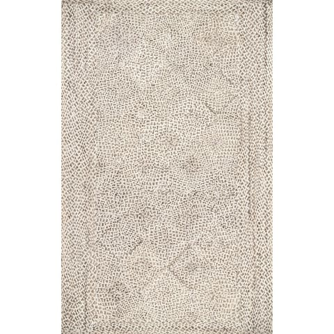 The Curated Nomad Kowolska Braided Casual Contemporary Jute Solid Area Rug