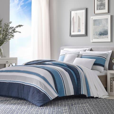 Nautica Westport Navy Cotton Comforter Bonus Set