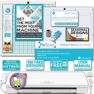 Shop Silhouette Cameo 3 Machine Bundle Sewing Designer Edition Upgrade Blade Pixmat Overstock 20506829