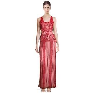 Parker Black Livy Embellished Cutout Side Slit Evening Gown Dress - 6