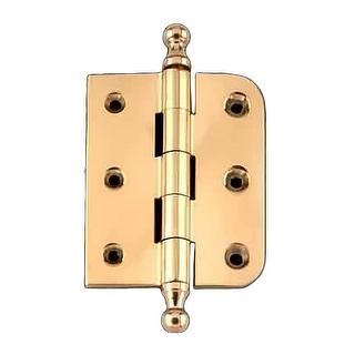Bright Solid Brass Cabinet Hinge 3 x 3 Spire Tip | Renovator's ...