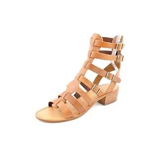 Chinese Laundry Take Down Women Open Toe Leather Tan Gladiator Sandal