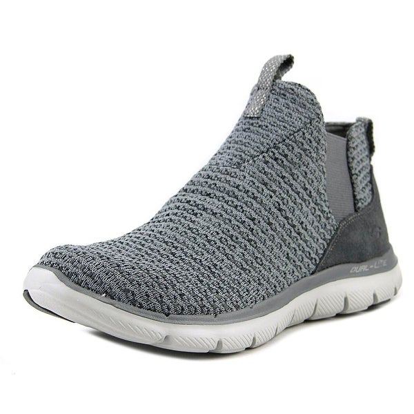 Skechers Flex Appeal 2.0 - Chime In Women Round Toe Synthetic Gray Sneakers