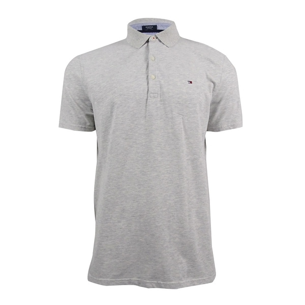 e40f07992 Shop Tommy Hilfiger Men's Thom Custom Fit Stretch Polo (L, Light Grey) -  Light grey - L - Free Shipping On Orders Over $45 - Overstock - 18947341